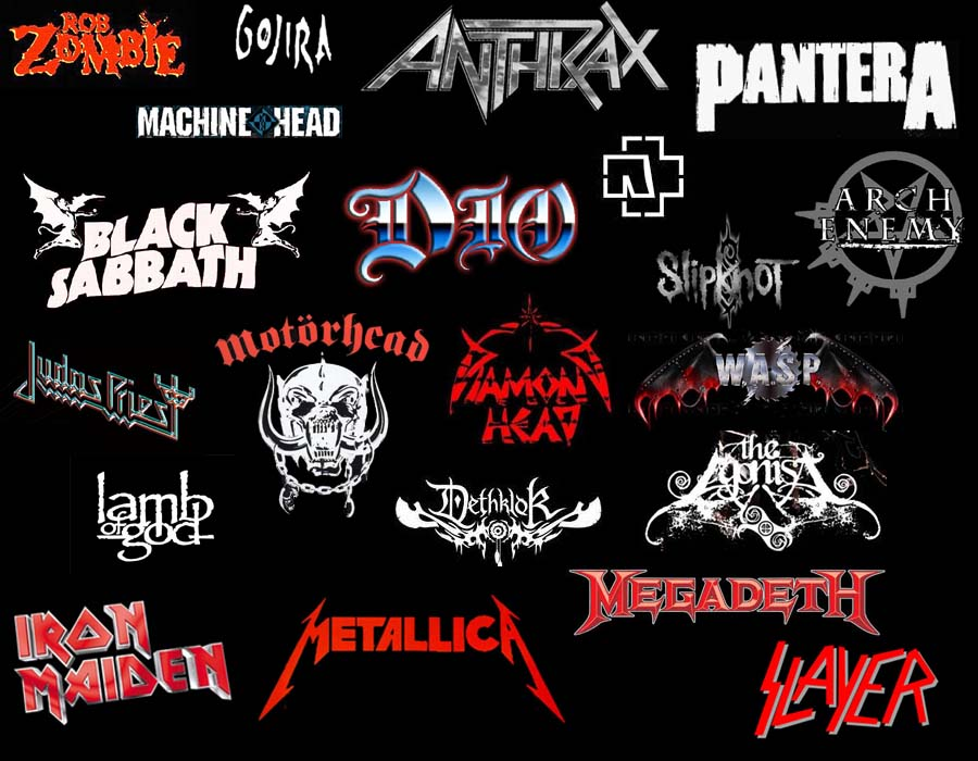 heavy metal bands logos Metalheads   headbangers